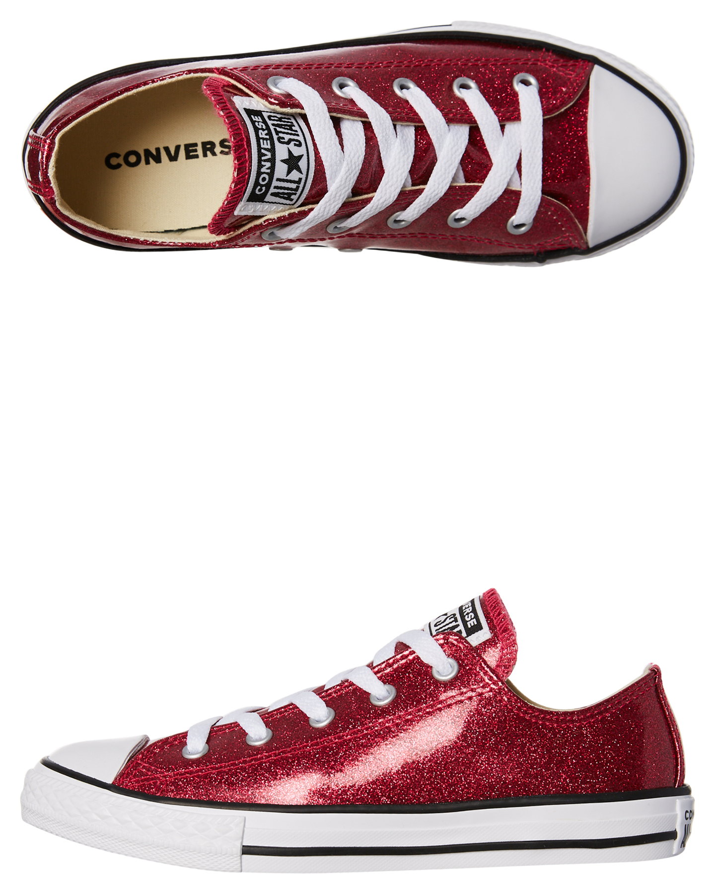 Converse Kids Chuck Taylor All Star Glitter Sneaker Pink Pop Womens ... bc0f0e588