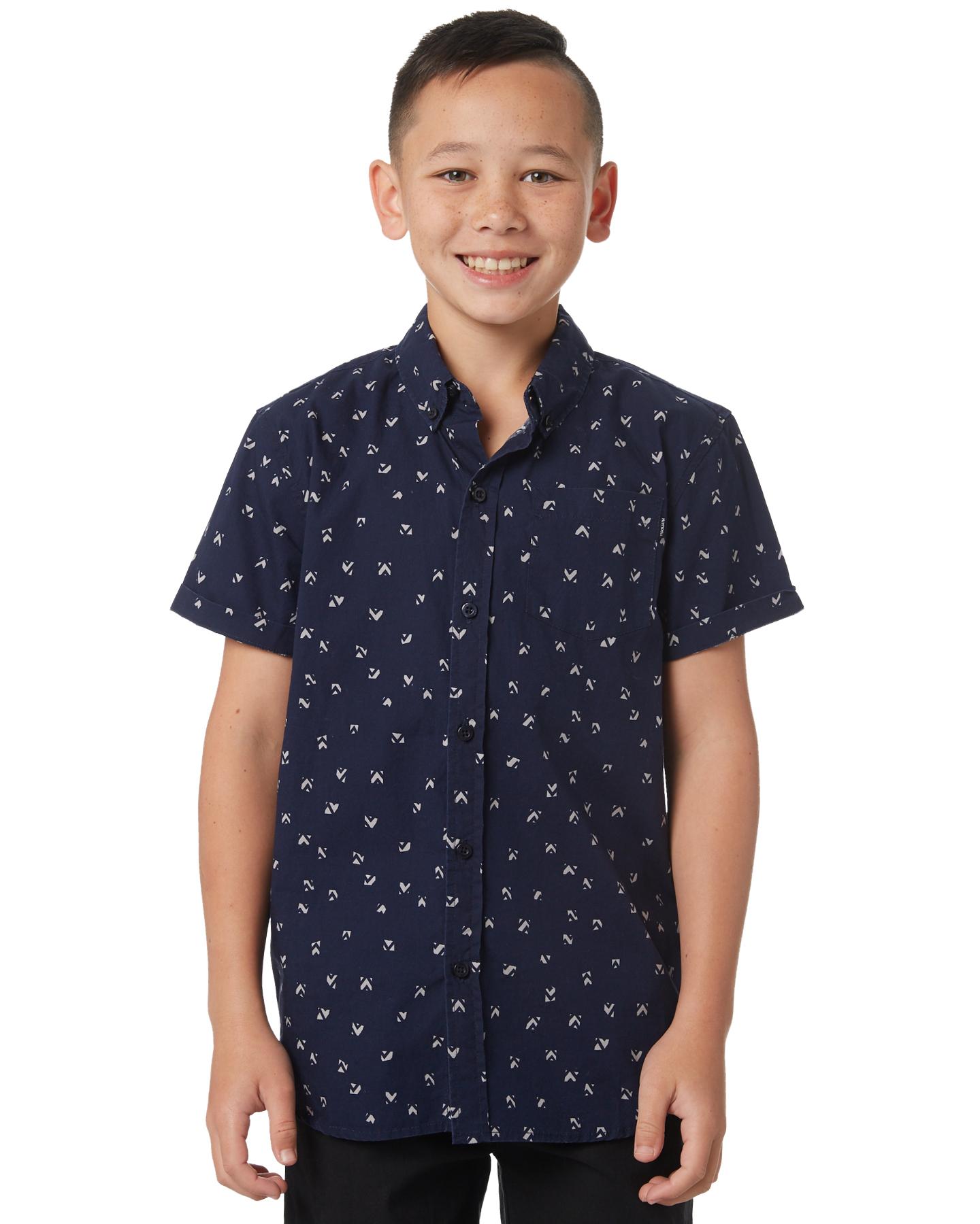 0fc2ceab8 St Goliath Kids Boys Worn Ss Shirt Navy Navy Childrens shirts Size ...