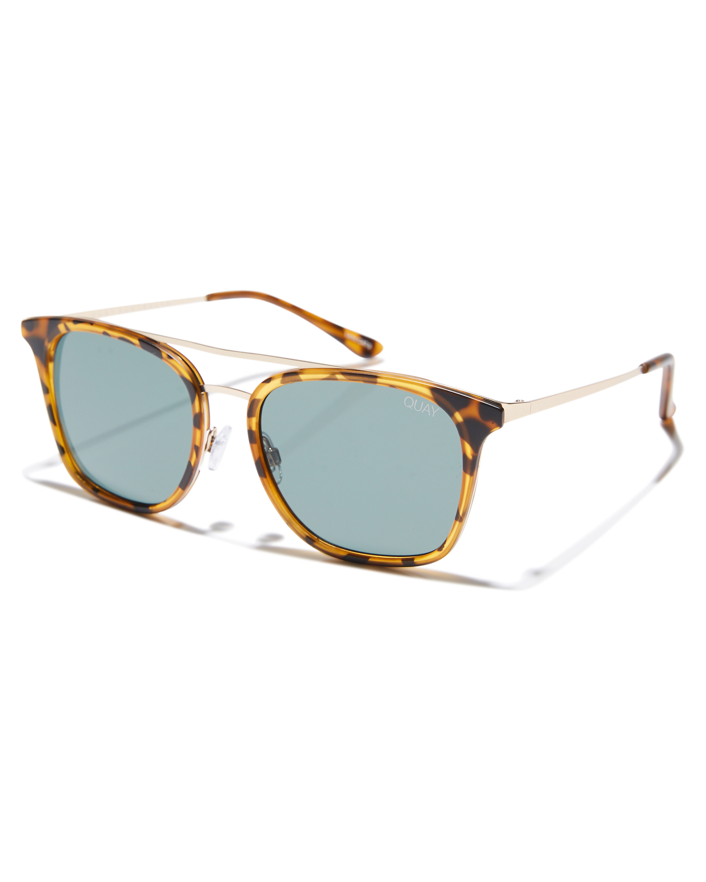 9702c98aa49e0d Quay Eyewear Byron Sunglasses Tort Green Lens Tort Green Lens Mens ...