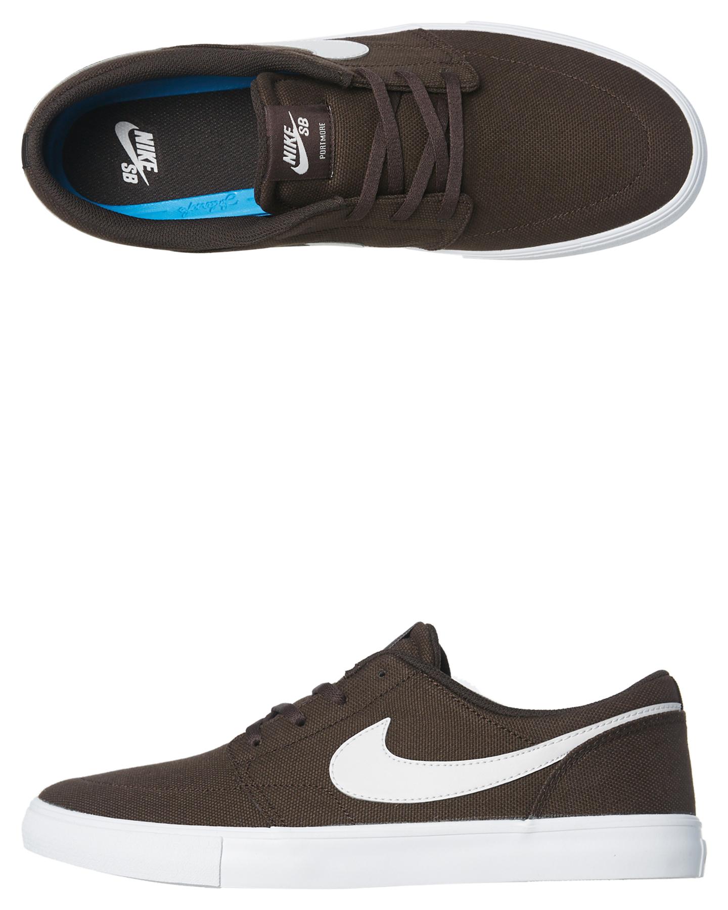 low priced 203dc d9113 Nike Sb Solarsoft Portmore Ii Shoe Velvet Brown White