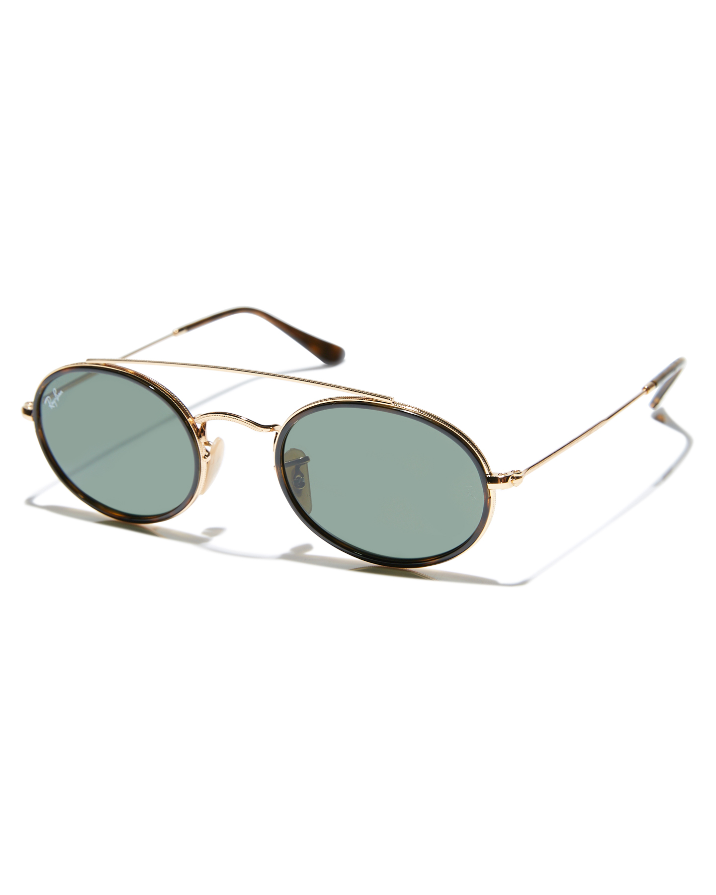 1ac8a909a7 Ray-Ban Oval Double Bridge Sunglasses Gold Green Mens sunglasses ...