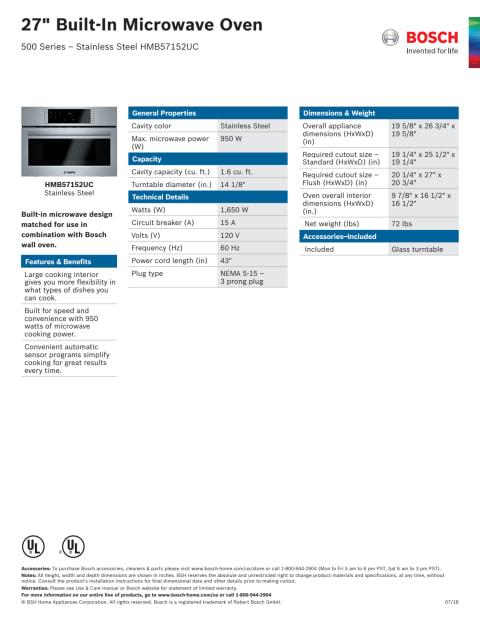 hmb57152uc 27 bosch 500 series built