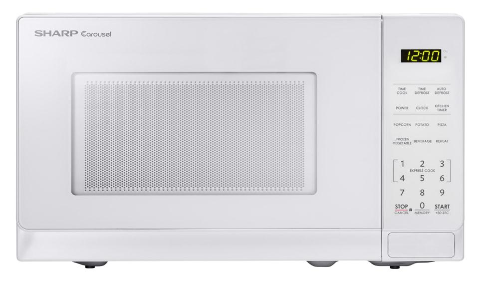 0 7 cu ft 700w sharp white carousel countertop microwave oven smc0710bw