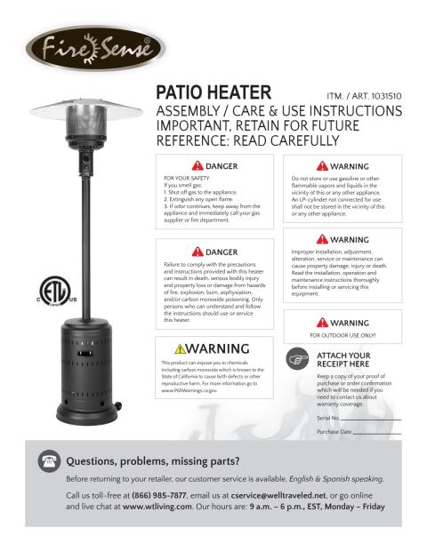 fire sense patio heater costco