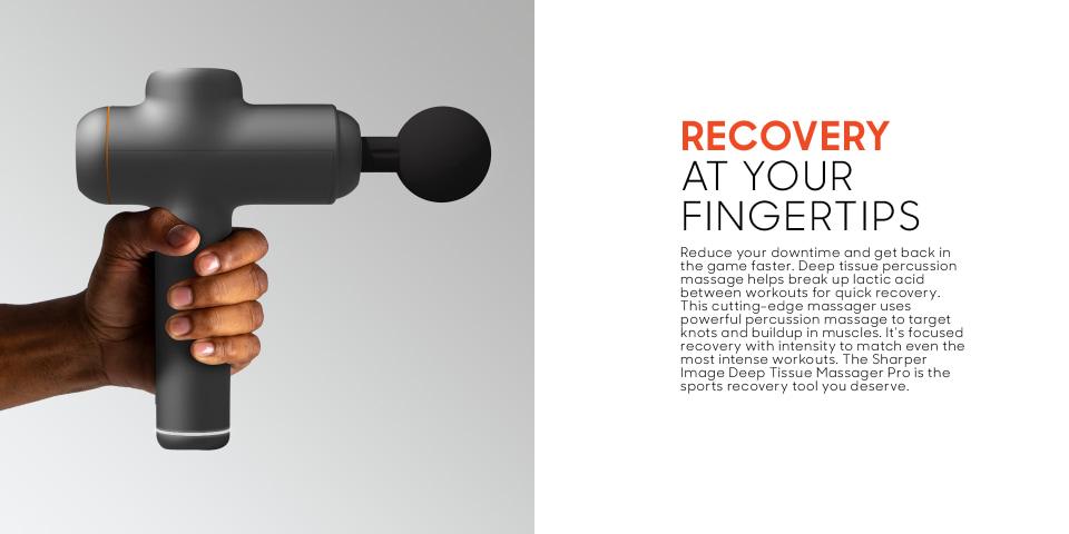 sharper image deep tissue percussion pro massager