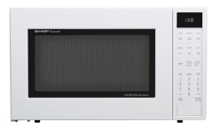1 5 cu ft 900w sharp white carousel convection microwave oven smc1585bw
