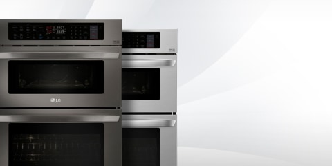 lg 30 in self cleaning convection microwave wall oven combo stainless steel