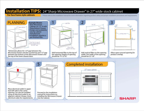 24 inch easy open microwave drawer