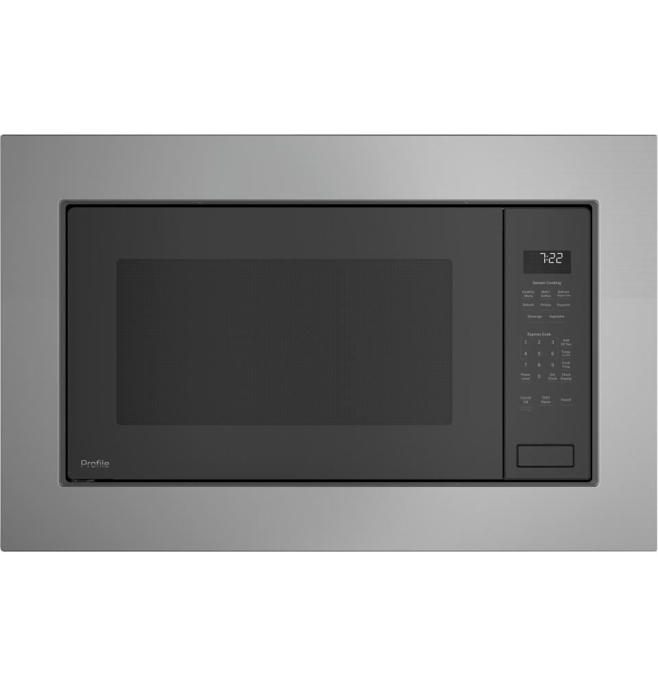 ge profile 2 2 cu ft built in sensor microwave oven in dark gray nfm