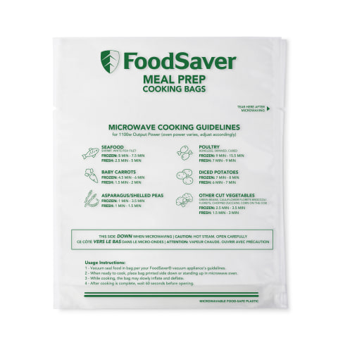 are foodsaver bags microwave safe