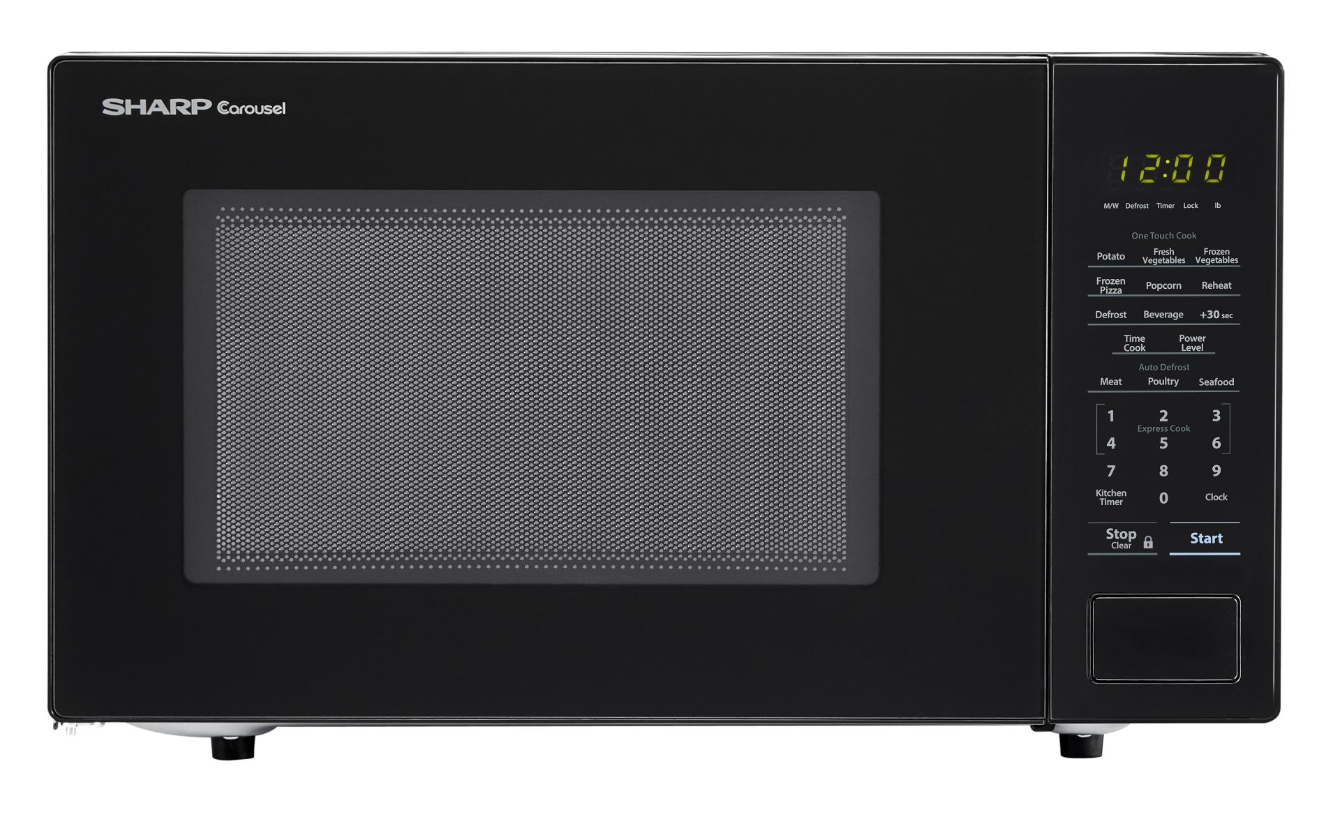 sharp carousel 1 1 cu ft 1000 watt countertop microwave black