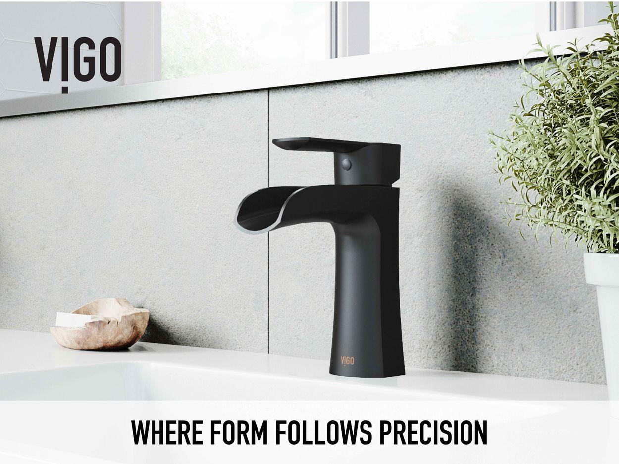 vigo paloma matte black 1 handle single hole watersense bathroom sink faucet