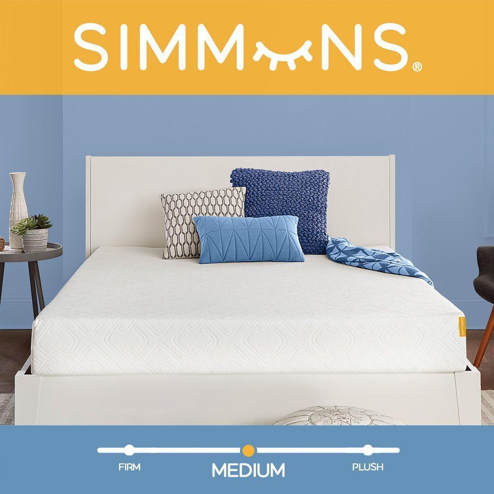 simmons 8 medium gel memory foam mattress