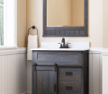 Style Selections Morriston 30 In Distressed Java Single Sink Bathroom Vanity With White Engineered Stone Top In The Bathroom Vanities With Tops Department At Lowes Com