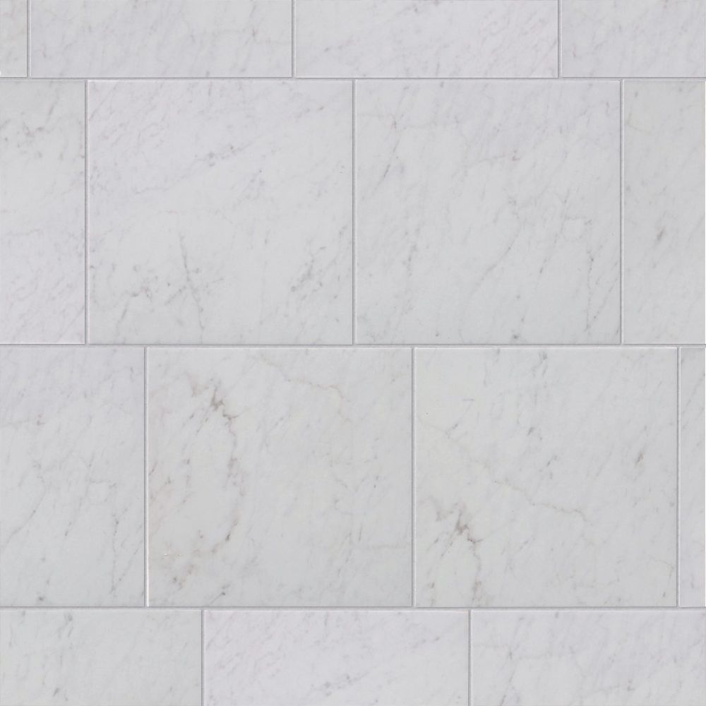 style selections futuro white 12 in x 12 in glazed porcelain marble look floor and wall tile