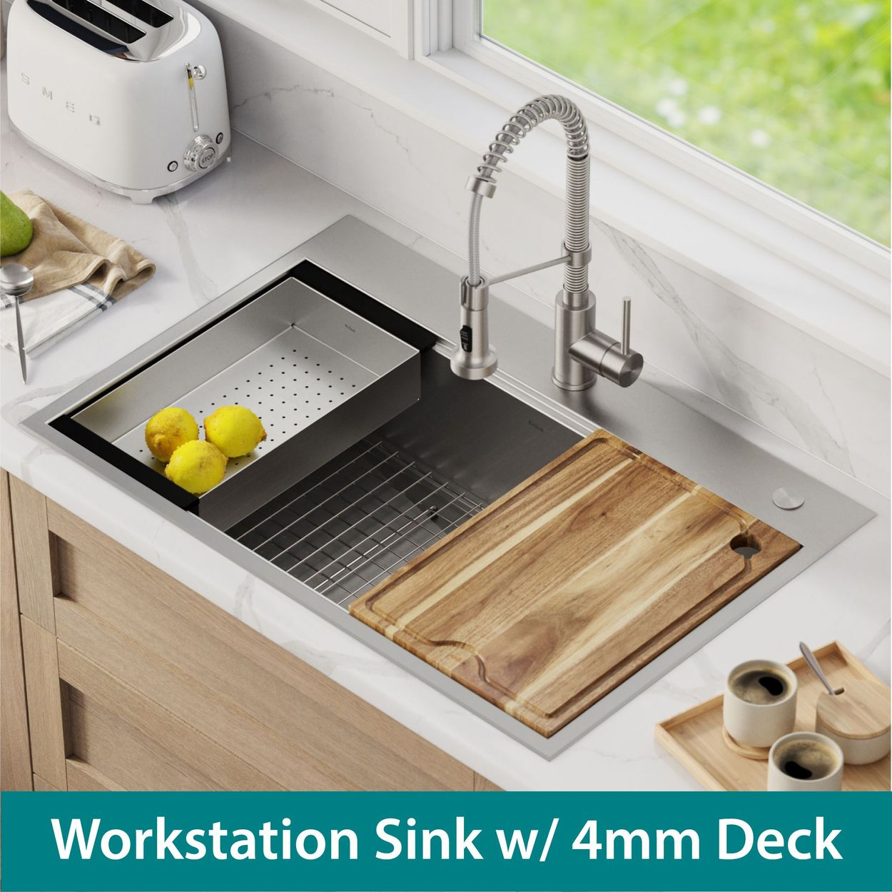 kraus 33 all in one workstation sink and faucet combo