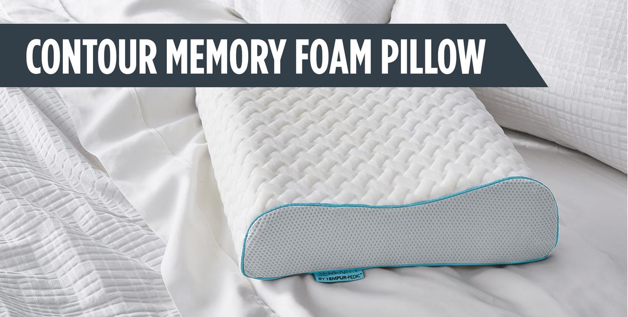 serenity by tempur pedic contour memory foam pillow