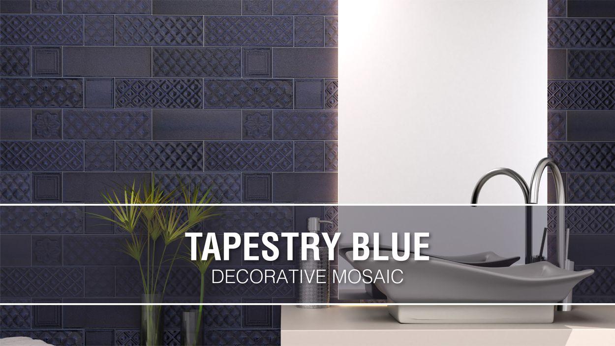 boutique ceramic boutique blue 9 in x 15 in glazed ceramic brick subway wall tile