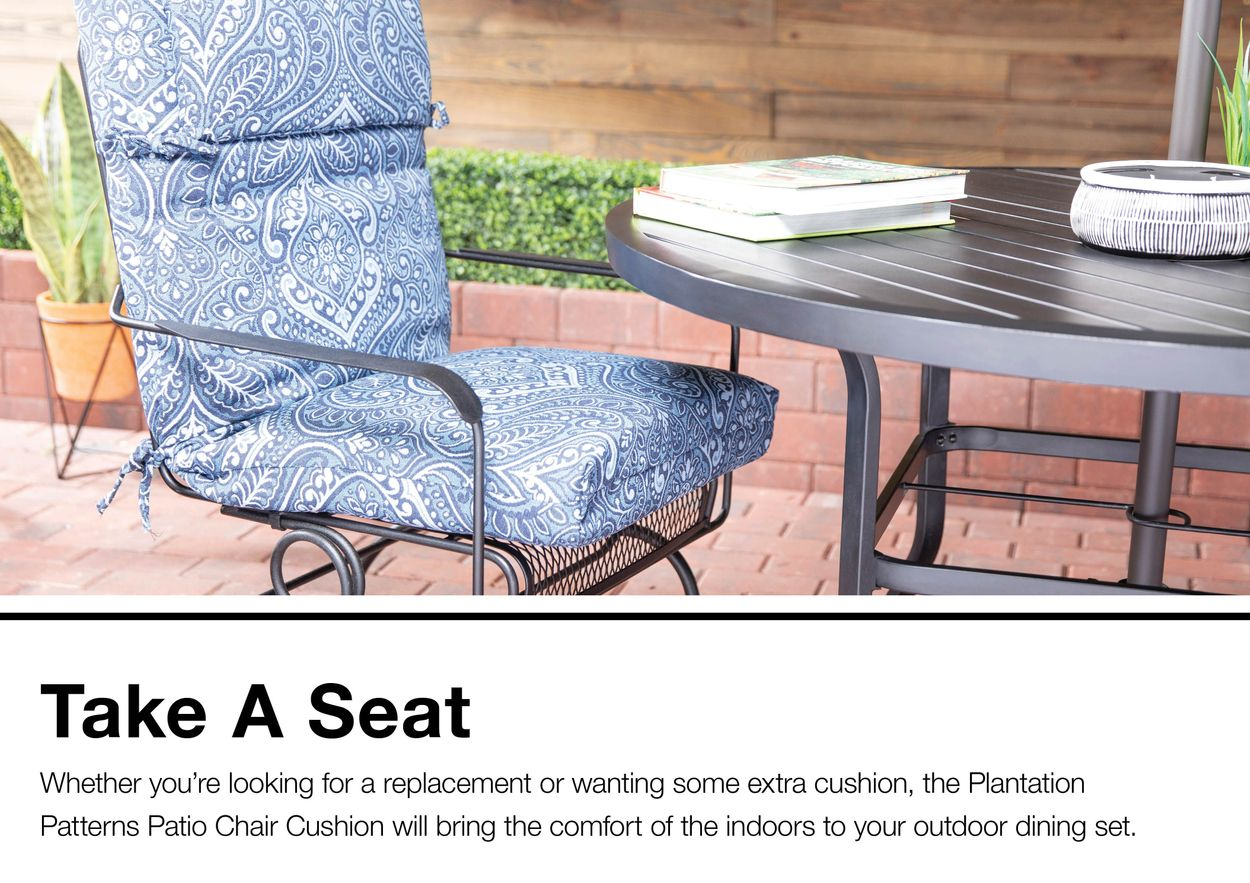 roth damask patio chair cushion in the