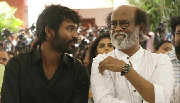 Image result for rajinikanth and dhanush