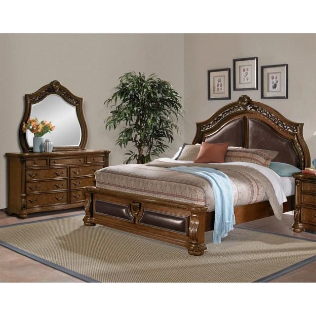 Morocco 6 Piece Queen Bedroom Set Pecan