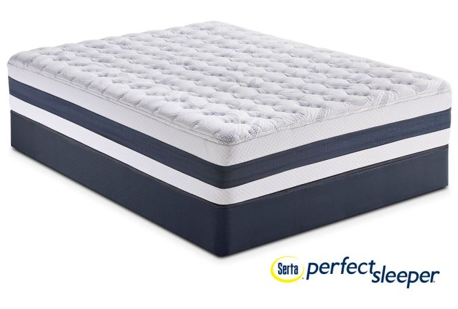 Carson Ridge Queen Mattress And Foundation Set By Perfect Sleeper