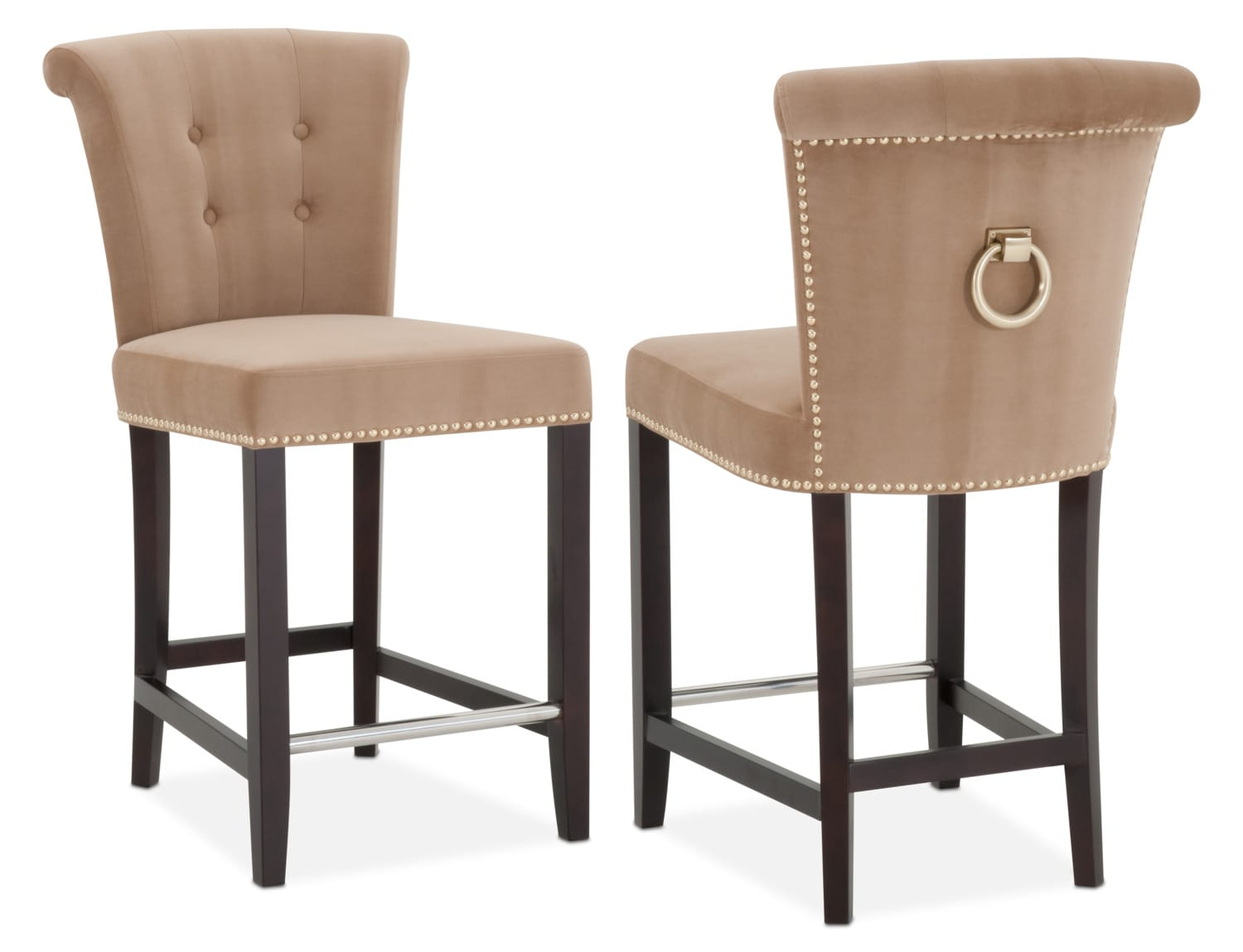 Calloway Counter Height Stool CamelGold Value City