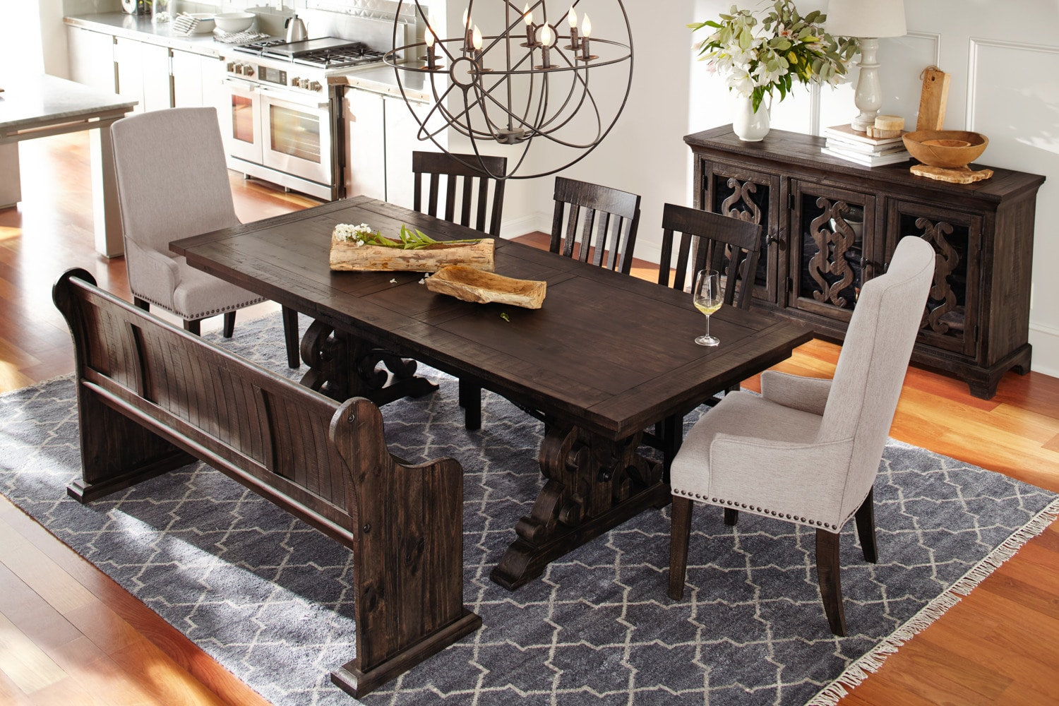 Charthouse Rectangular Dining Table 4 Side Chairs And