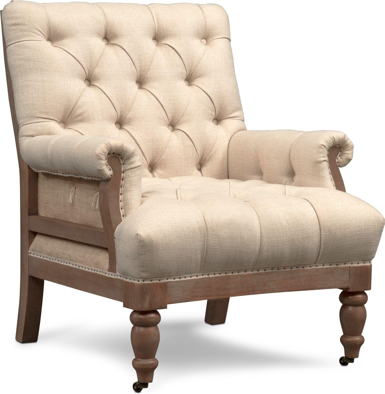 Bridget Accent Chair Cream Value City Furniture And
