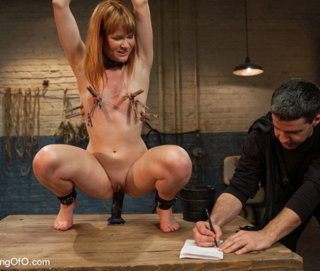 Bound And Hung Naked Red Girl Is Tortured Badly In The Masters Basement Xxxonxxx
