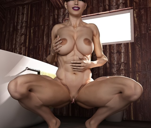 Muscular Girl Poses With Her Big Muscles And Wet And Pink Pussy Cartoontube Xxx