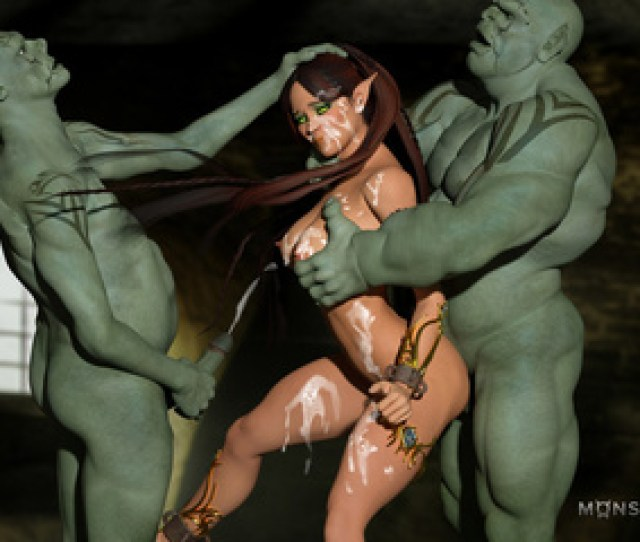 Muscled 3d Monsters With Massive Cocks Bangs A Picture 6