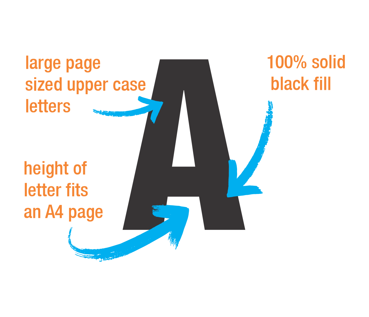 Big Letters Big Numbers Downloadable Templates In Pdf Format