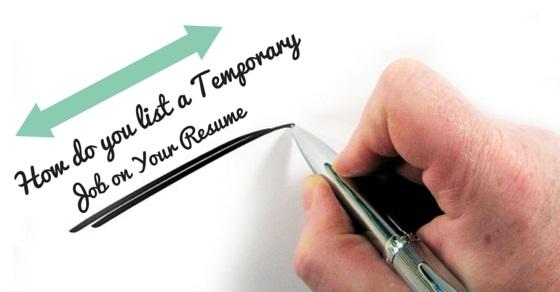 Temp resume objectives
