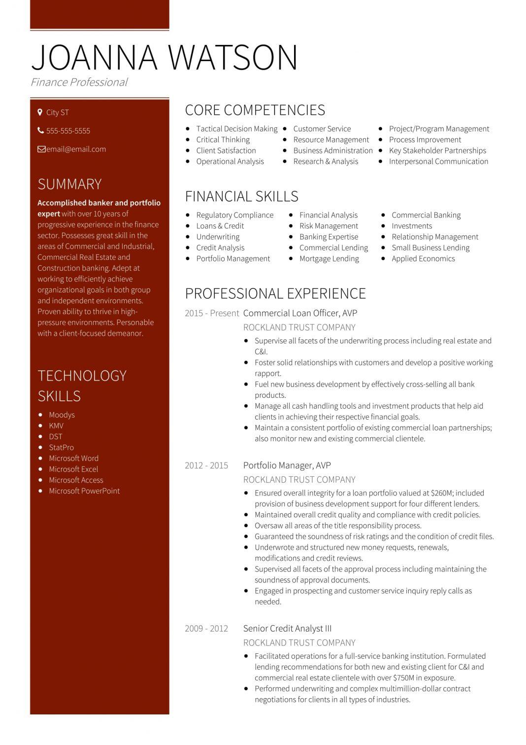 18 Best Banking Sample Resume Templates