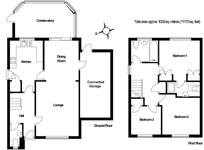 Property Details For 18 Gatley Drive Burpham Guildford Gu4