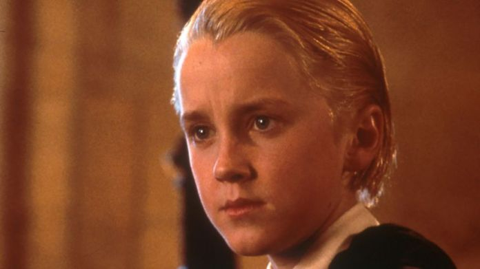 """Tom Felton as Draco Malfoy in """"Harry Potter and the philosopher's stone"""""""