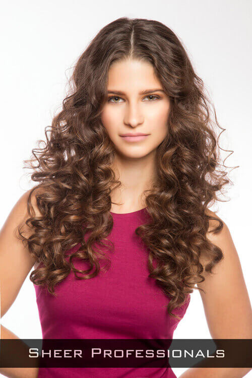 Hairstyle With Big Curls For Long Faces