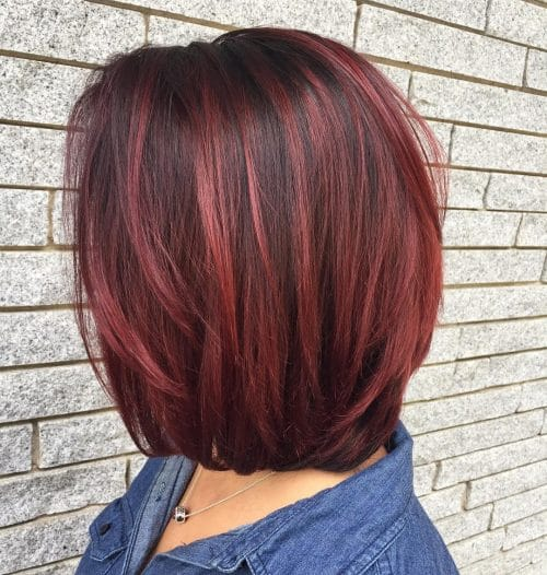 Image Result For Medium Brown Hair With Red Highlights