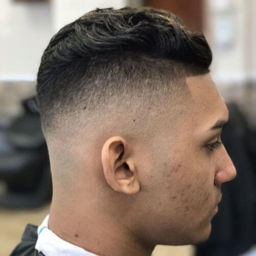 6 Bald Fade With Part