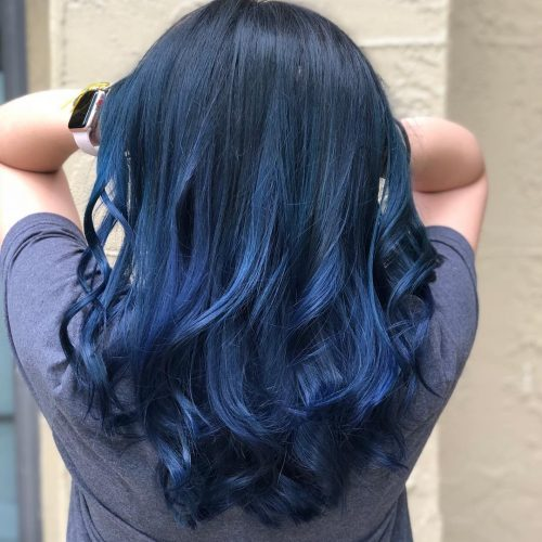 17 Most Amazing Blue Black Hair Color Looks Of 2019