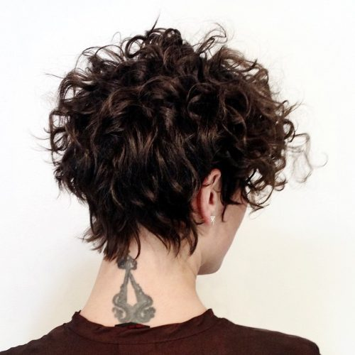 Short Curly Pixie Haircut For Women