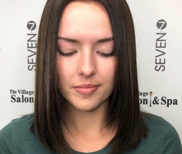 Straight Middle Part Picture Of Straight Middle Part Shoulder Length Hair