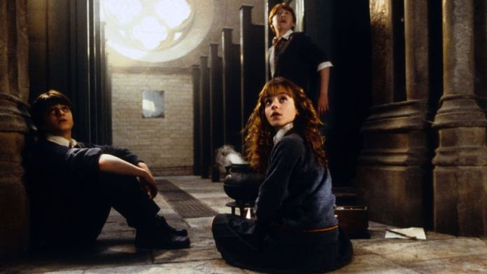 "Daniel Radcliffe, Emma Watson and Rupert Grint in ""Harry Potter and the chamber of secrets"""