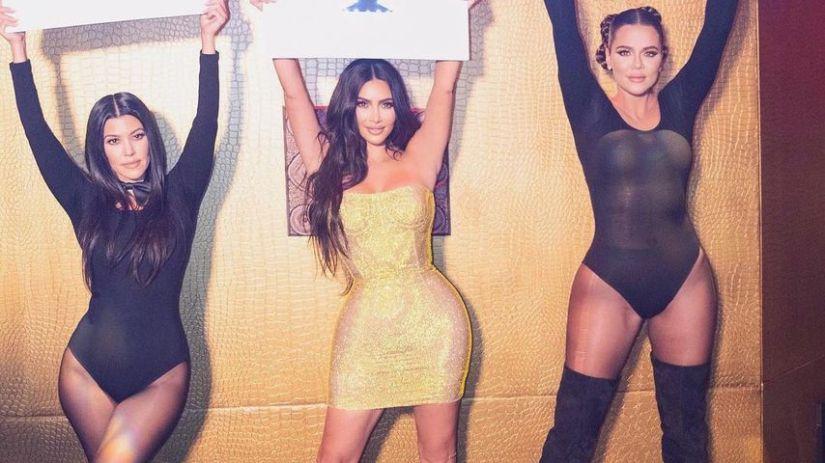 Kourtney, Kim and Khloé Kardashian in October 2020