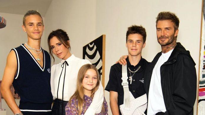 Romeo, Victoria, Harper Seven, Cruz und David Beckham 2020
