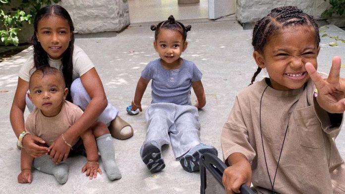 Kim kardashian's child, North, Psalm, Chicago and Saint