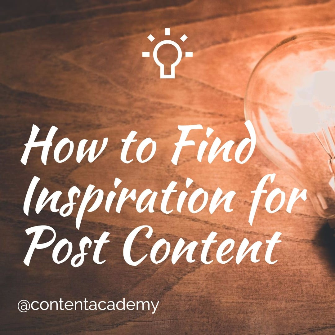 How to Find Inspiration for Blog Post Content