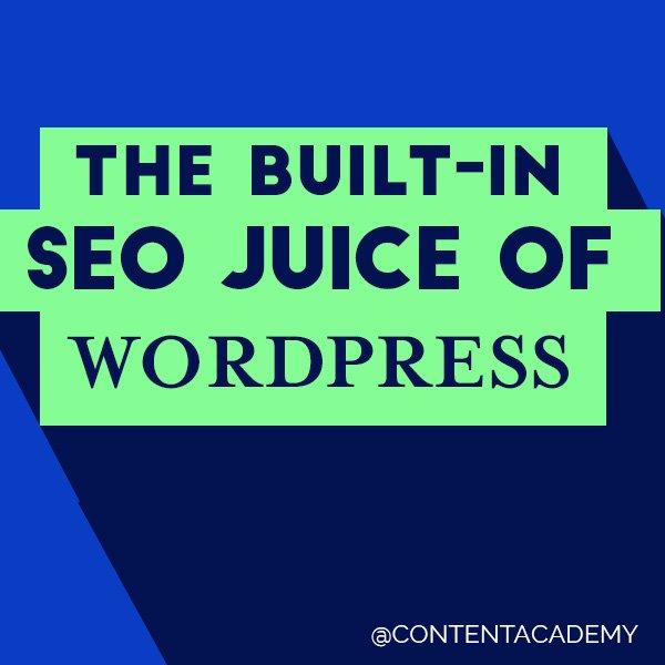 The Built in SEO Juice of WordPress