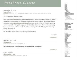 WordPress Classic Theme